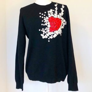 NWT Philosophy 💯 % Cashmere Flower Power Sweater